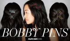 Hair How-To: 10 Genius Ways to Use Bobby Pins | MarieClaire.com