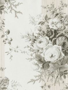 Black Morgan Toile Wallpaper - Traditional Wallpaper
