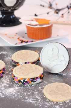 Skull Sandwich Cookies for Halloween | Kim Byers, TheCelebrationShoppe.com
