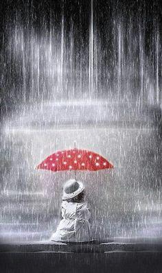 Rain, innocence and Polka Dots! :)