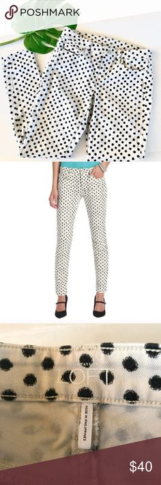 "LOFT Super Skinny Polka Dot Black & White Jeans EUC excellent used condition  LOFT Super Skinny Polka Dot Black & White Jeans  So cute!   Size 4  Approximate measurements (flat) Inseam: 29"" Waist: 14.75  Check out my closet for bundles! LOFT Jeans Skinny"