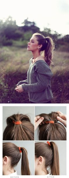 Easy Trick for Bigger Ponytail | Beauty Zone