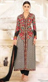 Black Color Embroidered Georgette Pant Style Suit #netpantstylesuit#onlinesalwarkameezshoppingusa Be prepared to slip in the comfort zone of black color embroidered georgette pant style suit. The fantastic attire creates a dramatic canvas with fantastic floral patch, lace and resham work. USD$ 134(Around £ 92 & Euro 102)