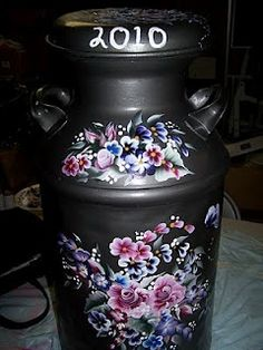 Great Idea - Painted milk can with house numbers. Description from pinterest.com. I searched for this on bing.com/images