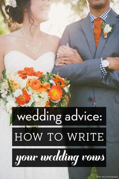 Got writer's block? Learn the tricks for writing romantic, personalized wedding vows. There won't be a dry eye at your wedding! Pin now, read later.