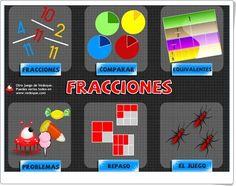 """Fracciones"" de Vedoque Dual Language, Fractions, Ideas Para, Homeschool, Teaching, Math, Games, Spanish, Classroom"