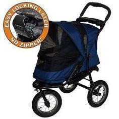 Pet Stroller - Jogger No Zip Pet Stroller (3 Colors)