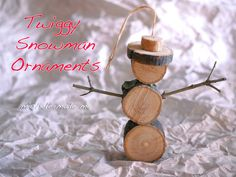 michele made me: Have Yourself a Merry Little Christmas Ornament - Twiggy Snowman Ornament DIY