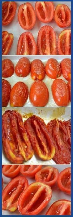 Cómo Hacer TOMATES SECOS caseros. #tomate #tomateseco #salsa #ensaladas #tomato #tomatoes #tips #cake #pan #panfrances #panettone #panes #pantone #pan #recetas #recipe #casero #torta #tartas #pastel #nestlecocina #bizcocho #bizcochuelo #tasty #cocina #chocolate Si te gusta dinos HOLA y dale a Me Gusta MIREN … Vegetarian Cooking, Vegetarian Recipes, Cooking Recipes, Healthy Recipes, Veggie Recipes, Mexican Food Recipes, Deli Food, Good Food, Yummy Food