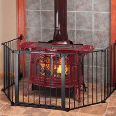 Don't let your children get burned.  Keep them away from the stove or fireplace with a hearth gate.