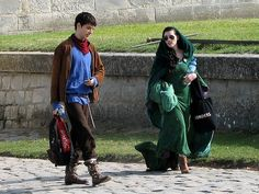 Colin and Katie. I really love looking at people in medieval clothes and sunglasses.