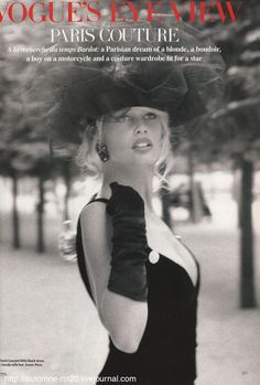 Vogue's Eye View - Paris Couture I Vogue Uk I October 1989 I Model: Claudia Schiffer I Photographer: Herb Ritts I Editor: Sarajane Hoare.