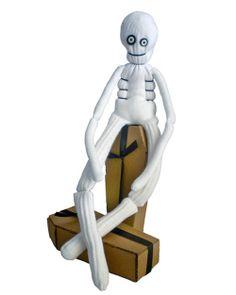DIY Sock Skeleton by Robert Mahar via marthastewart: Make 'Bones' out of a pair of white socks. #Skeleton #Halloween #Robert_Mahar #DIY