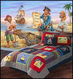 Treasure Island Bedding   Pirate Wall Murals   Pirate Theme Bedrooms Part 45