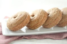 """Healthy"" Baked Apple Cider Doughnuts"