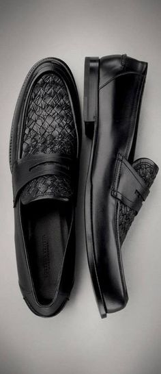 Bottega Veneta Menswear Nero Intrecciato Calf Shoe♥✤ | KeepSmiling | BeStayHandsome