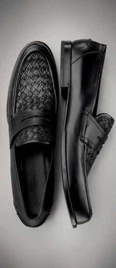 Bottega Veneta Menswear Nero Intrecciato Calf Shoe♥✤ | KeepSmiling | BeStayHandsome