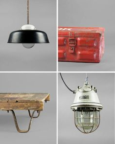 housewares salvaged from abandoned buildings