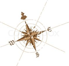 Vector of 'Vector wind rose compass. Great for any directions on your work.'