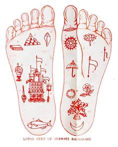 Lotus feet of Srimati Radharani.