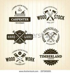 stock-vector-vector-set-of-vintage-carpentry-emblems-207585085.jpg 450×470 pixels