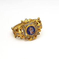 Bracelet, Italy, circa 1870, micromosaic and gold