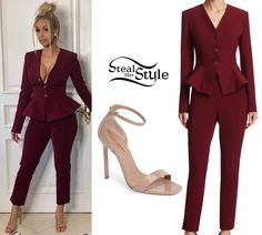 Cardi B Clothes & Outfits | Steal Her Style Cardi B Clothes, Lazy Girl, Day Makeup, Celebs, Celebrities, Nicki Minaj, Her Style, Peplum Dress, Celebrity Style
