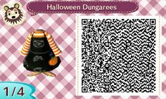 QR code for Halloween dungarees in Animal Crossing.