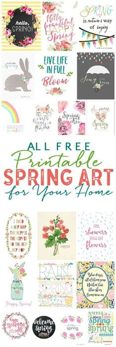 Free Spring Printables: Spring Art for Your Home!