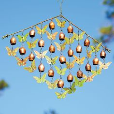 This flock of butterflies and bells wind chime produces a captivating sound that compliments that natural ambiance of your garden.