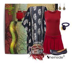 """Kimono"" by alynncameron ❤ liked on Polyvore featuring Pure Country Weavers, Oscar de la Renta, MANGO, Aurelie Dellasanta, Bandolino, Nest, Stephanie Kantis, Charming Life and vintage"
