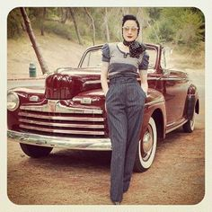 In Griffith Park, my favorite sunset/ sunrise drive, with the #1946 #Ford Deluxe…