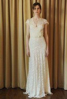 Love this dress by Temperly London. I can imagine this at a garden wedding, a crown of flowers and leaves on the bride's head.