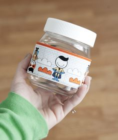 Nutella Jar = Perfect kid's snack container. Just add cute cozy!