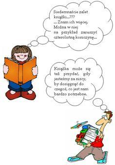 Zalety książki Diagram, Education, Comics, Words, Paper, Cartoons, Onderwijs, Learning, Comic