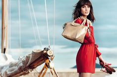 style it girl alexa chung photo shoot long champ