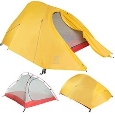 Bryce 2P Two Person Ultralight Tent and Footprint - Perfect for Backpacking, Kayaking, Camping and Bikepacking -- Check out the image by visiting the link.