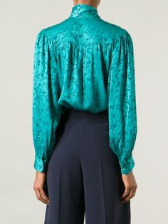 f2f1479b547e8a Yves Saint Laurent Vintage Arabesque Pussy Bow Blouse. Stephanie Quick ·  YSL Inspired Silk Blouses
