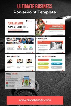 This professional PowerPoint template will help you to create a breathtaking presentation slide deck without a help of a graphic designer. The ppt template is available in multiple different color themes. View the product page to check all available color options. Powerpoint Slide Designs, Professional Powerpoint Templates, Business Powerpoint Templates, Ppt Template, Presentation Slides, Business Presentation, December Images, Company Introduction, Color Themes