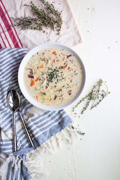 Thick & Creamy Dairy Free Clam Chowder - replace chicken for clams! yum!