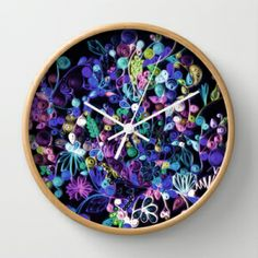 My quilling art in a clock (society6)!!!
