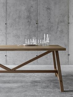 Rectangular solid wood table - Fioroni