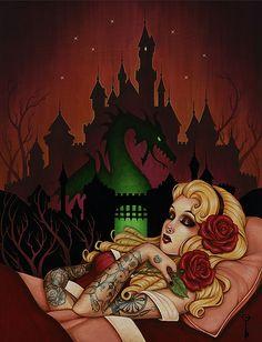 In Ageless Sleep She Finds Repose...Sleeping Beauty by Glenn Arthur