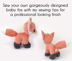 OFF Plush sewing pattern bundle PDF Fox and Fennec stuffed animal - video tutorials wolf canine dog Pokemon plushie furry Valentines DIY Bundle for savings! Printable sewing pattern & instructions with videos to make kawaii standing Bab Easy Sewing Projects, Sewing Projects For Beginners, Sewing Hacks, Sewing Tutorials, Video Tutorials, Tutorial Sewing, Plushie Patterns, Animal Sewing Patterns, Sewing Patterns Free