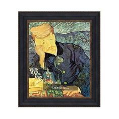 design toscano portrait of doctor gachet 1890 by vincent van gogh framed painting - Van Gogh Lebenslauf