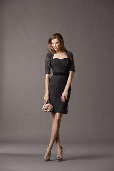 @Watters black and lace bridesmaid dress