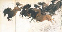 Japanese Screen, Korean Art, Moose Art, Character Design, Animation, Horses, Painting, Animals, Screens