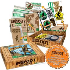 Bigfoot Research Kit - Everything you need to find Bigfoot in one awesome box! (Includes scat bags)