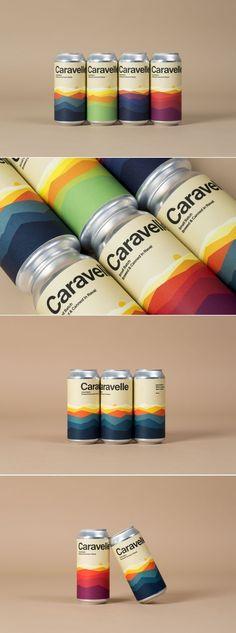 Caravelle beer packaging by Hey Studio Food Packaging Design, Bottle Packaging, Packaging Design Inspiration, Brand Packaging, Branding Design, Coffee Packaging, Corporate Design, Hey Studio, Craft Beer Labels
