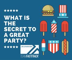 What is the secret to a great party? #Party #QuestionTime http://teamfasttrack.com/